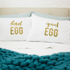 Good Egg/Bad Egg Pillow Case Set