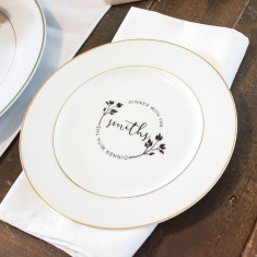 Dinner With The… Personalised Side Plate