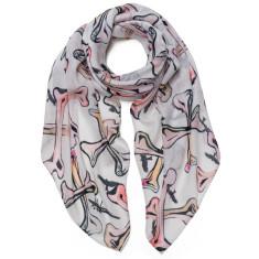 Bones & vultures scarf