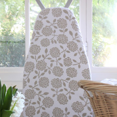 Ironing board cover - hydrangea oatmeal