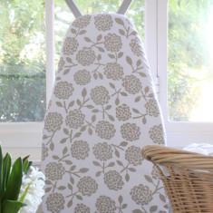 Ironing board cover - hydrangea oatmeal