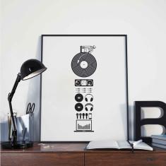 DJ Parts Print