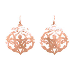 Andalusia drop earrings in rose gold plate