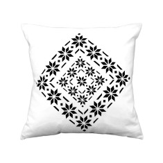 Snow diamonds handmade cushion cover