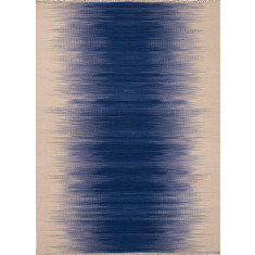 Twilight blue handmade flat weave wool rug