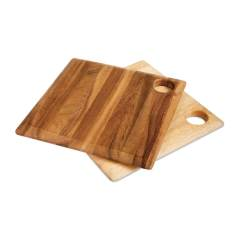 Square wood gift boards (set of 2)