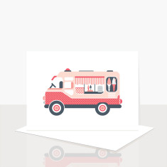 Icecream Van Greeting Card (Pack of 8)