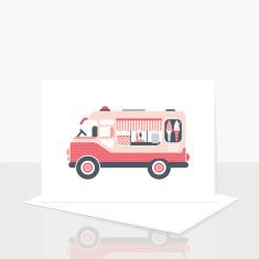 Icecream Van Greeting Card (Pack of 8)