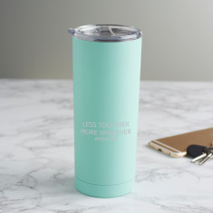Personalised 'Less Together More Whatever' Travel Cup