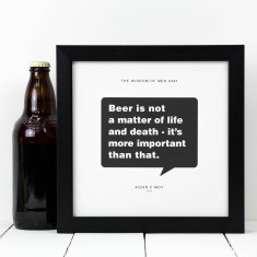Personalised Gift For Him - Beer Print