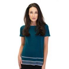 Silk Cashmere Striped Tee