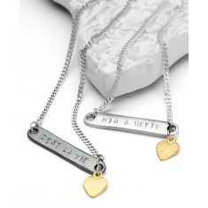 Personalised ID bar necklace