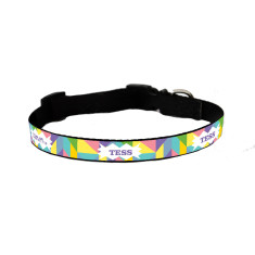 Personalised dog collar in geometric