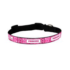 Personalised dog collar in princess