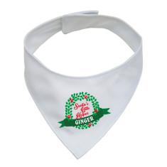 Personalised Santa's helper pet neckerchief