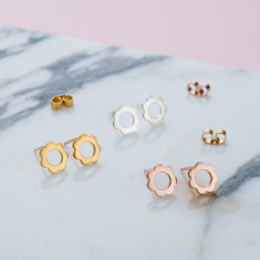 Scalloped Stud Earrings