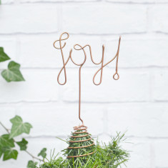 Joy wire tree topper