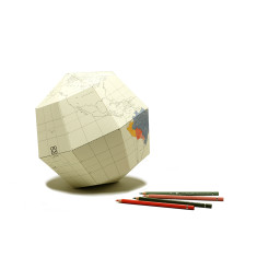 D.I.Y Colour Me In Paper Origami Globe