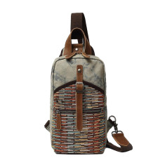 Canvas Sling Chest Shoulder Bag