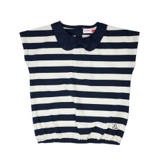 Girl's striped t-shirt with collar