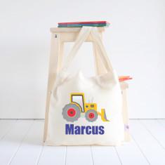 Digger personalised library bag