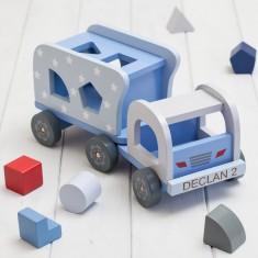 Personalised Blue Stars Shape Sorter Truck