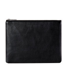 Antiheroine leather wallet in black