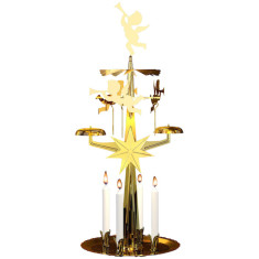 Angel chimes candle holder
