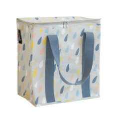 Insulated Cooler bag in Raindrops  print