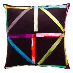 Patchwork black cushion