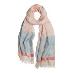 Pastel jacquard luxe scarf