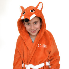 Personalised Soft Fox Dressing Gown