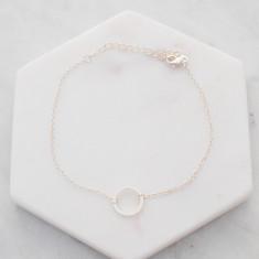 Circle of love bracelet in silver