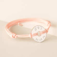 Women's personalised open disc bracelet