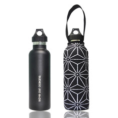 Stainless steel 750ml traveller bottle with star print carry cover