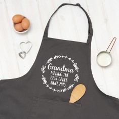 Personalised Grandma The Best Cooking Apron