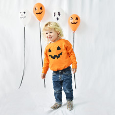 Pumpkin Face Halloween Children's Sweatshirt Jumper