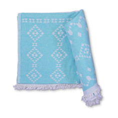 NYC Aqua - X-Large Hammam Beach Towel & Throw