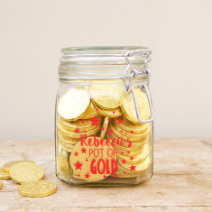 Personalised Pot of Gold Jar