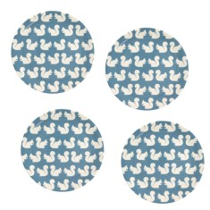 Kissing Squirrel Melamine Plates (Set of 4)