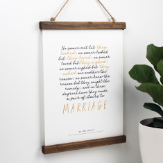 Shakespeare Marriage Quote Print