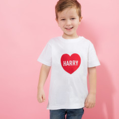 Personalised Child's Valentine's Day Heart T Shirt