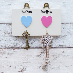 Personalised His/Hers Key Hooks