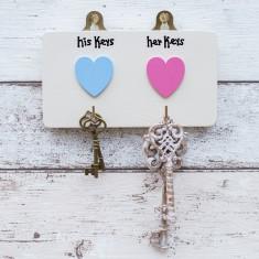 Personalised His/Hers Key Hooks