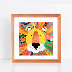 Rainbow lion limited edition giclee print