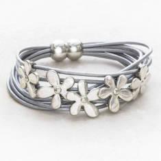 Alita Multi Strand Personalised Flower Bracelet