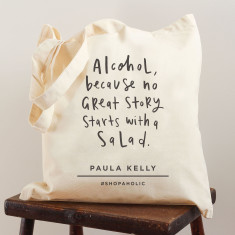 Alcohol personalised tote bag (various colours)