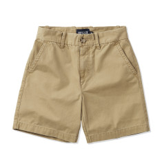 Boys Cotton Drill Khaki Shorts