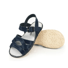 Kids' coast leather sandals in navy