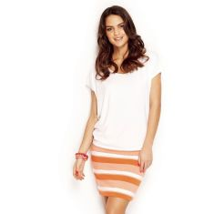 Short Skirt Striped- Orange